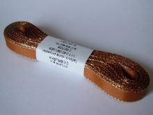 Stuha taftová 9mm s rexorem rezavá+zlato