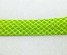 Šikmý proužek 20mm BA/PES kostička sv. zelená