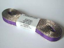 Stuha taftová 9mm s rexorem fialová+zlato