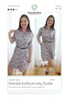Tištěný střih dámské košilové šaty/košile vel. 32-52