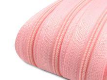 Zip spirálový v metráži 3mm sv. růžová