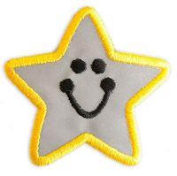 Nažehlovací aplikace reflexní hvězda