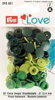 Prym LOVE plastové patentky Color snaps zelený mix