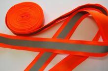 Páska reflexní našívací 30mm oranžová