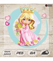 Nažehlovací aplikace princezna