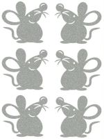 Nažehlovací aplikace reflexní myšky