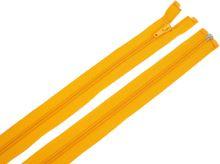 Zdrhovadlo zip plastový 55cm dělitelný šíře 6mm oranžová