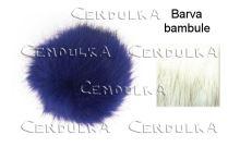 Bambule kožešinová 8cm bílá