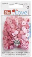 Prym LOVE mini plastové patentky Color snaps růžový mix