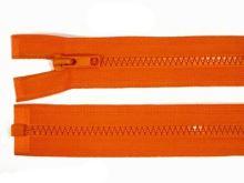 Zdrhovadlo zip kostěný 80 cm dělitelný oranžová
