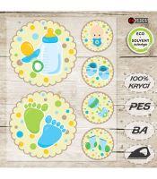 Nažehlovací aplikace novorozenec I modrá