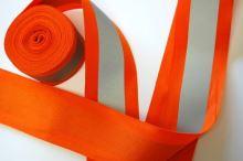 Páska reflexní našívací 60mm oranžová