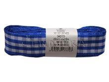 Stuha žakárová 25mm kostka, modrá