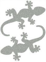 Nažehlovací aplikace reflexní ještěrka
