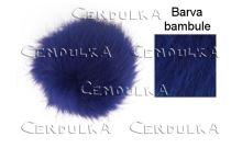 Bambule kožešinová 8cm královská modrá