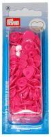 Plastové patentky Color snaps 12,4 mm srdce tm. růžová