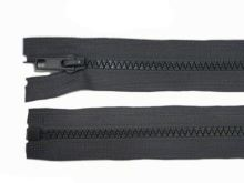 Zdrhovadlo zip kostěný 60 cm dělitelný temně šedá