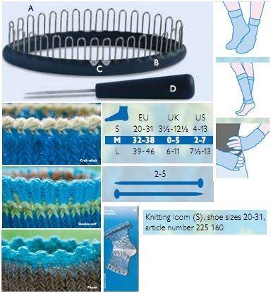 Nástroj na pletení ponožek velikost S