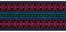 Pruženka oděvní vzorovaná 50mm růžový vzor
