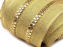 Zip kostěný v metráži 5mm zlatý