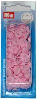 Plastové patentky Color snaps 12,4 mm srdce růžová