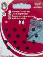 Našívací patenty KIN vel.2/0 černá
