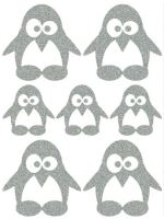 Nažehlovací aplikace reflexní tučňák