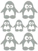 Nažehlovací aplikace reflexní tvar tučňák