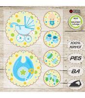 Nažehlovací aplikace novorozenec II modrá