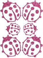Nažehlovací aplikace třpytivá berušky 2 růžová