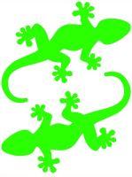 Nažehlovací aplikace ještěrky neonově zelená