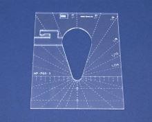 Quiltovací pravítko kapka 2 výška 3mm