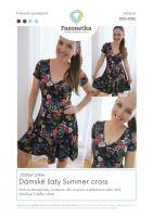 Tištěný střih na dámské šaty Summer cross vel. XXS-XXXL