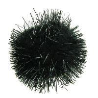 Dekorační bambulky 20ks černé