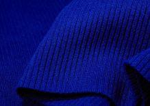 Náplety elastické žebrované - tunel 15x80 cm královská modrá